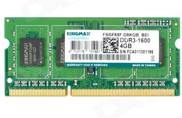 Ram_LAPTOP 4GB DDR III 1600 KINGMAX